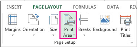 set print area in excel